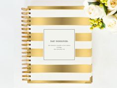 January+2015+DAY+DESIGNER++Gold+Stripe++Yearly+by+whitneyenglish,+$59.00