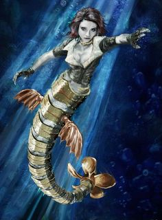 Steampunk mermaid!!!!!!!!!  I think this has to happen!
