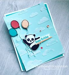 Crafty Little Peach: Party Pandas Birthday Card With Sneak Peek of New Products
