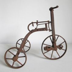 Antique Toy Trike makes for great sculpture in a Farmhouse or Folk Art style home. Click to buy.
