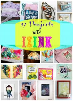 Check out these 17 awesome projects with Izink inks! We featured beautiful projects like wedding ring box, tags, home decor, cards, and many more!