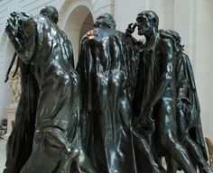 #119. The Burghers of Calais. Auguste Rodin. 1884-1895 CE. Bronze.