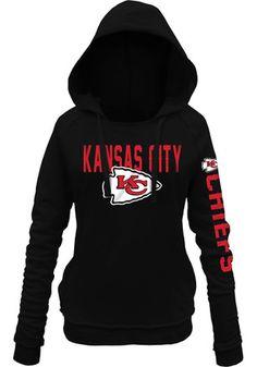 Kansas City Chiefs Womens Black Brushed Fleece Hoodie Kc Cheifs 7eb647f8c