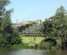 University of East Anglia, where I studied abroad University Of East Anglia, Study Abroad, Norfolk, Habitats, Guitars, Concrete, Dolores Park, Bb, British
