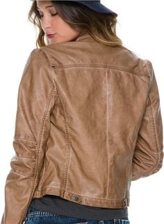 Women's faux leather jacket http://www.swell.com/Womens-Apparel-New-Products/SWELL-RACER-LEATHER-JACKET?cs=BR