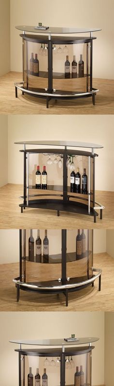 Home Pubs and Bars 115713: Home Bar Furniture Cabinet Decor Tinted Modern Glass Top Wet Storage Foot Rail -> BUY IT NOW ONLY: $364.91 on eBay!