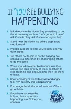 Steps to Take Poster - anti-bully lesson idea