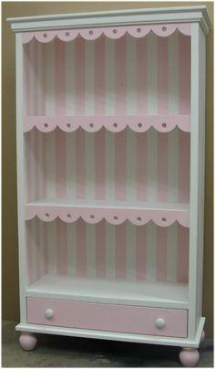 Cottage Scalloped Children's Bookcase w/Drawer