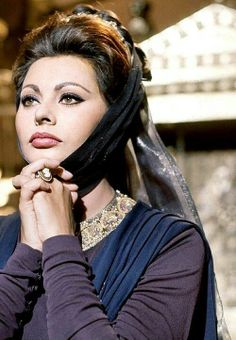 Sophia Loren's Spanish costuming in 'El Cid'.