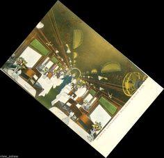 tr135 INTERIOR LACKAWANNA RAILROAD DINING CAR 1910 TRAIN POSTCARD EAST ORANGE N