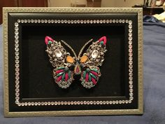 Vintage Jewelry Collage Butterfly Wall Decor , Butterfly Jewelry Assemblage , Jewelled Butterfly by FrAyeD997 on Etsy https://www.etsy.com/listing/281254010/vintage-jewelry-collage-butterfly-wall