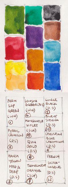 Paul Wang Colours to Pick for a 12-pan Watercolour Palette | Parka Blogs