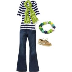 Cute and a budget friendly outfit. Love the blue and green!
