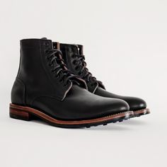 Black Dainite Trench Boot by Oakstreet Boot Makers. http://oakstreetbootmakers.com/footwear/black-dainite-trench-boot