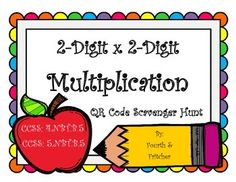 QR Code Scavenger Hunt: 2-Digit X 2-Digit Multiplication