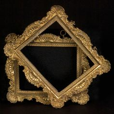 A pair of Regency period cast bronze ormolu frames.  These frames were most probably made for miniature paintings on ivory.  English circa 1820.  w.7.5 in x h.6.5 in