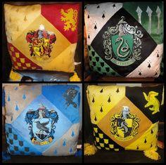 Harry Potter HOGWARTS HOUSE PILLOW SET Gryffindor Slytherin Ravenclaw Hufflepuff | eBay