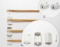House For Chopsticks  家型箸置き  デザイナー: 224porcelain Chopstick Rest, Sushi Design, Chopsticks, Kitchen Tools, Gadget, Cooking, Board, Crafts, House