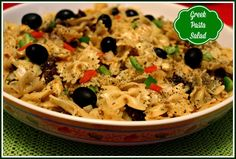 Sweet Tea and Cornbread: Greek Pasta Salad!