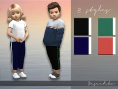 Toddler Trousers with stripes by Yasechka at TSR • Sims 4 Updates
