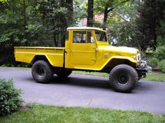 The Toyota Land Cruiser FJ45 was only available in the U.S. from 1963-1967. Originally offered as a short bed pickup with fixed or removable top & doors, a long bed pickup with removable top & doors and as a 4-door wagon. However, availability of the these models is quite limited.