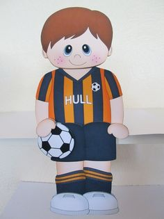 3D On the Shelf Card Kit - Little Footballer Russ plays for Hull - Photo by…