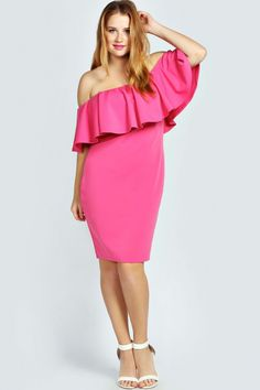 a3ccfc140011 BOOHOO PLUS SINEAD FRILL SLEEVE OFF THE SHOULDER PLUS SIZE DRESS | Stylish  Curves