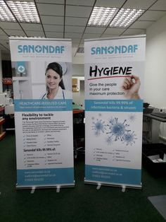 Sanondaf Watford  banners for expo