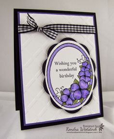 Kendra's Card Company: More Pretty Purple Flowers with Gina K Designs!
