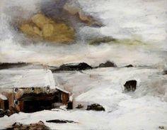 Snowscape, Cumbria by Sheila Fell Landscape Art, Landscape Paintings, Landscapes, Monochromatic Drawing, Snow Art, Painter Artist, Winter Light, Art Uk, Cumbria