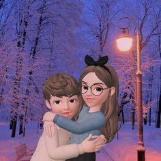 Love Cartoon Couple, Cute Cartoon Girl, Cute Love Cartoons, Cartoon Drawings, Cartoon Art, Girly M, Bff Pictures, Cute Relationships, Cartoon Wallpaper