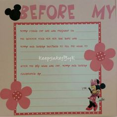 Superior Minnie Mouse Baby Book Scrapbook