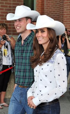Matching: The pair have now been together for four years since their wedding day in 2011. Pictured:The Duke and Duchess of Cambridge during a visit  to Canada in 2011