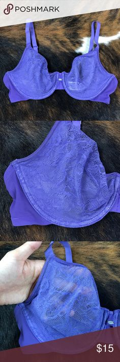 Calvin Klein underwire lace bra  36D Not padded Calvin Klein underwire lace bra  - Not padded - Purple - 36D  Great condition, Lots of use left. From smoke free home. Calvin Klein Underwear Intimates & Sleepwear Bras