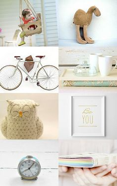 Pastels 1 by ILze Apine on Etsy--Pinned with TreasuryPin.com Floating Nightstand, Pastels, Board, Table, Etsy, Furniture, Home Decor, Floating Headboard, Decoration Home