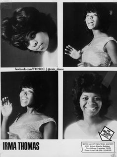 Irma Thomas, Sweet Soul, Soul Music, Female Singers, Acting, Singing, Angels, Artists, Movie Posters