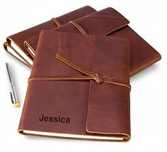Fine Leather Journal with Free Embossing: Personalized Keepsake Gifts - A refined, vintage-style journal with a personal touch.