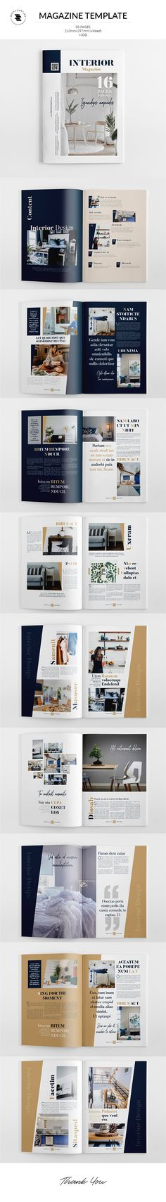 Buy Magazine Template by on GraphicRiver. Interior Magazine The Magazine. This layout is suitable for any project purpose. Modern House Design, Modern Interior Design, Interiors Magazine, Magazine Template, Photo Displays, Web Design, Creative Design, Restaurant Brochure, Typography