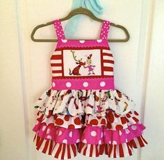Project Nursery - Dr. Seuss Birthday Girl Dress was handmade and purchased from Hot Tots Cool Kids2.