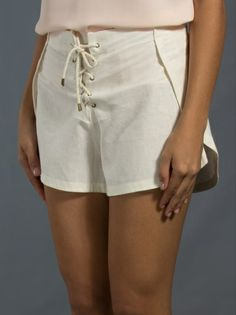 HELOISA FARIA - Shorts off white 7