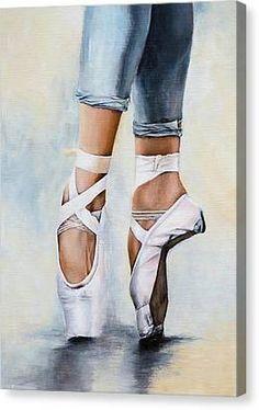 shoe draw Dancer Painting - Ballet Shoes by Nicole Daniah Sidonie Ballerina Kunst, Ballerina Painting, Ballerina Project, Ballerina Drawing, Ballet Drawings, Dancing Drawings, Ballet Shoes Drawing, Toe Shoes Ballet, Dance Shoes