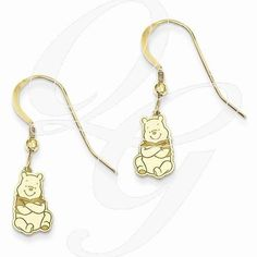 Always trying to make and find the good stuff! Gold-Plated SS Disney Winnie The Pooh Dangle Wire EarringsBy Paul Michael Design. Available at www.Geek.jewelry  #Jewelry #Gemstones #Geek #Diamonds #YouAreSpecial #Creative #Designer #GeekJewelry #popculture #geekdotjewelry