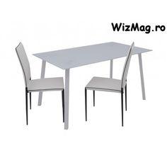 Masa de bucatarie din sticla WIZ MB 16 PVA The Wiz, Dining Table, Furniture, Home Decor, Decoration Home, Room Decor, Dinner Table, Home Furnishings, Dining Room Table