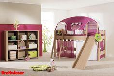 PAIDI   Kinderzimmer - Viel Spaß für die Mädchen! Für Abwechslung sorgen die Varianten von Zelten, Vorhängen und Accessoires.