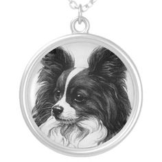 papillon dog necklace