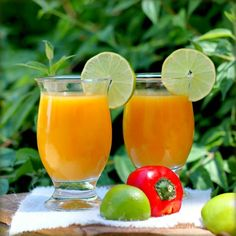 Mango Smoothie with Chilli, Lime & Ginger from Taste Food