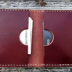 Double Card Leather Wallet by San Filippo Leather
