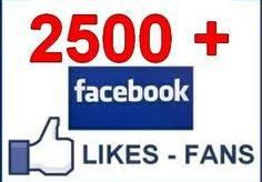 give you 2500+ REAL Worldwide Facebook Fans Likes ... for $13
