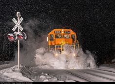 RailPictures.Net Photo: QGRY 3105 St. Lawrence & Atlantic Railroad EMD GP40-3 at Milan, New Hampshire by Kevin Burkholder
