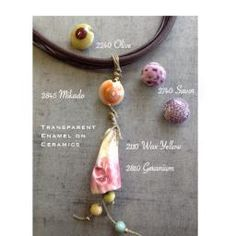 Thompson Enamel fired onto ceramic beads!  Learn more at our June 2015 workshop at Painting with Fire Studio.